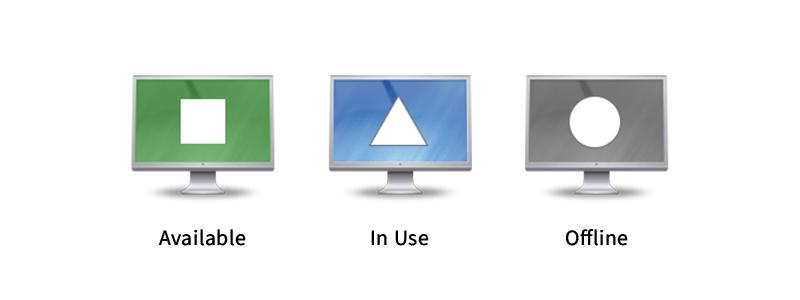 Icônes de statut de l'ordinateur